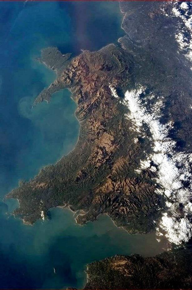 Landscapes of Wales from Space